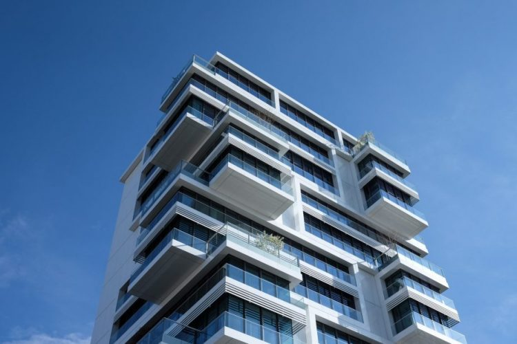 rendering building sky